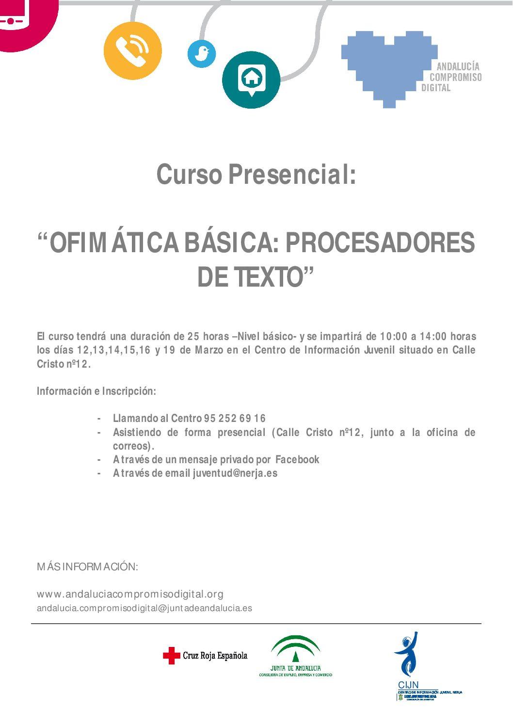 OFIMÁTICA BÁSICA: PROCESADORES DE TEXTO