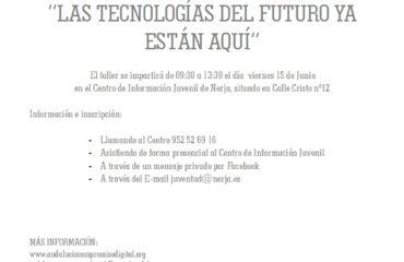 """TALLER """"LAS TECNOLOGIA DEL FUTURO YA ESTAN AQUI"""""""