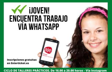 """Ciclo de talleres prácticos, vía Instagran, """"Joven encuentra tu trabajo vía Whatsapp"""""""